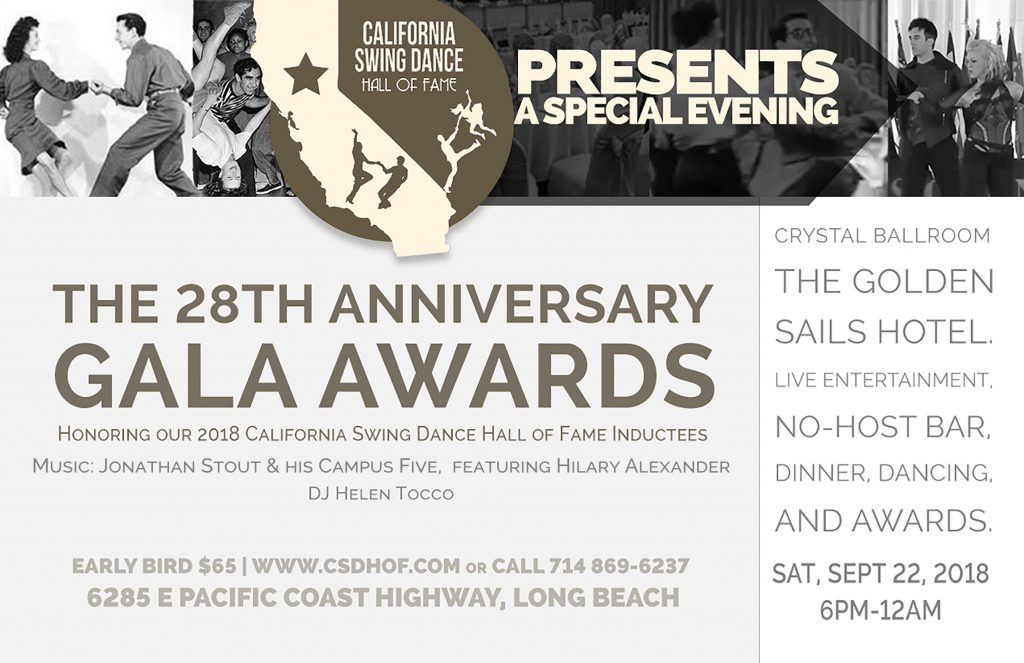 California Swing Dance Hall of Fame 28th Anniversary Dinner Dance and Awards Gala @ The Golden Sails Hotel - Crystal Ballroom | Long Beach | California | United States