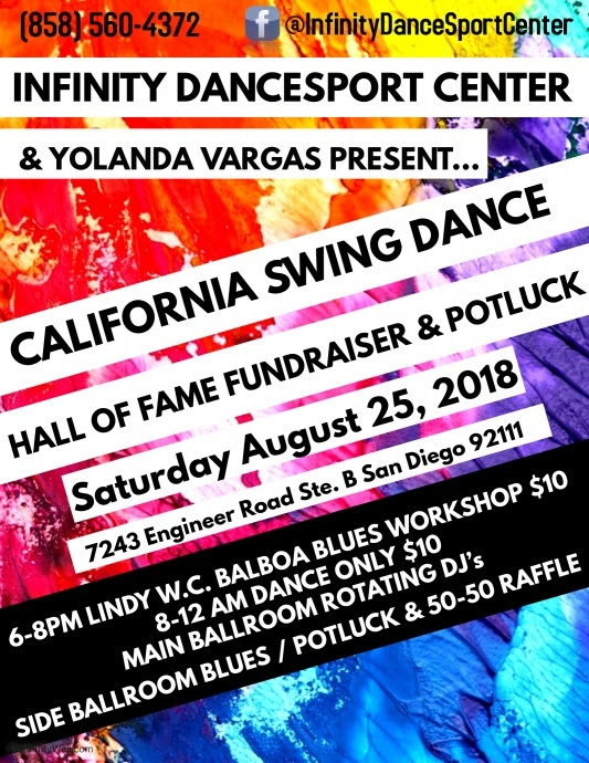 California Swing Dance Hall of Fame Fundraising Dance @ San Diego | San Diego | California | United States