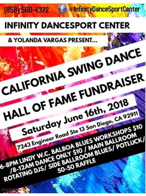 CSDHOF Fundraiser at Infinity Dancesport Center, San Diego @ Infinity Dancesport Center | San Diego | California | United States